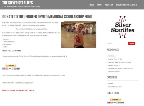 Donate to the Jennifer DeVito Memorial Scholarship Fund